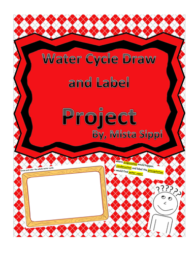 Water Cycle Draw and Label Project
