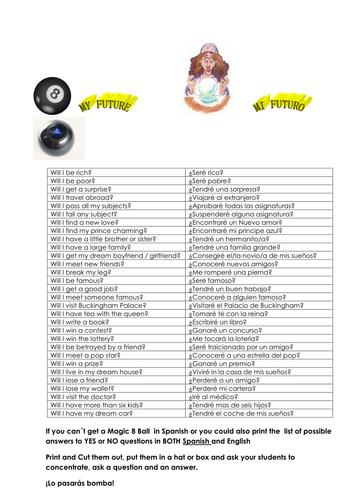 8 Packs of Basic Vocabulary English Spanish Worksheets