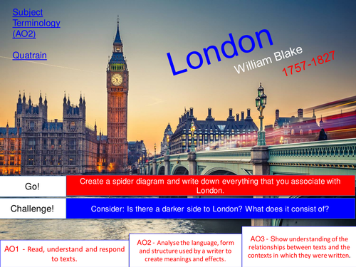 London - William Blake - AQA Poetry - Power and Conflict