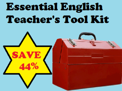 ESSENTIAL ENGLISH TEACHER'S TOOLKIT - SAVE 70% (ignore my image)