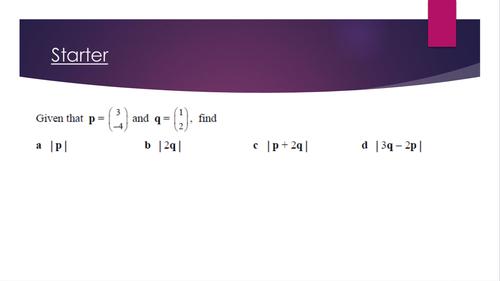 Proving parallel vectors GCSE
