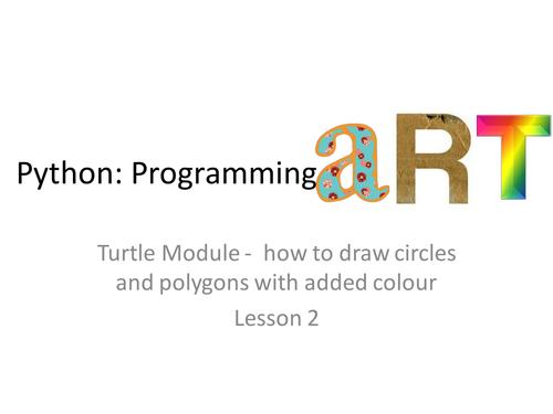 Art in Python lesson 2/4