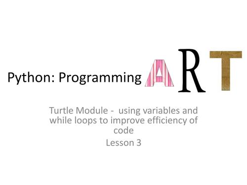 Art in Python lesson 3/4