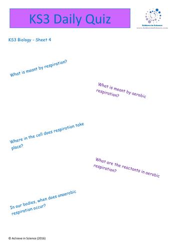 ks3 science revison bundle - pack b