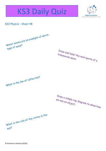 ks3 revision for waves
