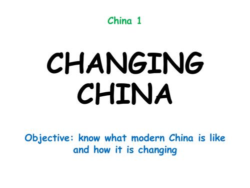 """China 1: """"CHANGING CHINA"""""""