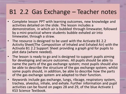 Activate 1: B1: 2.2 Gas Exchange