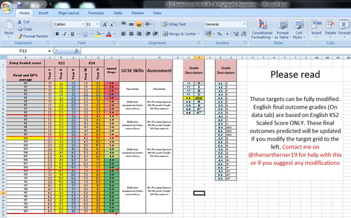 NEW AND UPDATED Life Beyond Levels KS2 (NEW SCALED SCORE)-KS4 1-9 Grade Forecaster/target setting