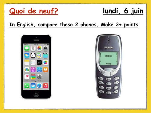 Quoi de neuf - mobile phones