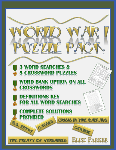 WWI Puzzle Pack: World War I Word Search and Crossword