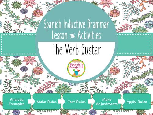 Spanish Inductive Grammar Lesson:  Verbs like Gustar