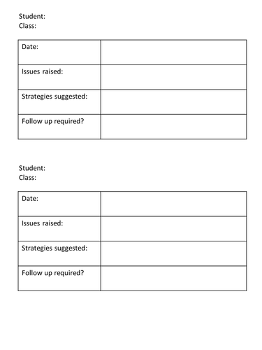 Improving Student Progress: Intervention Tracking Forms