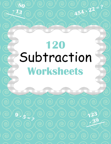Subtraction Worksheets by bios444 - Teaching Resources - Tes