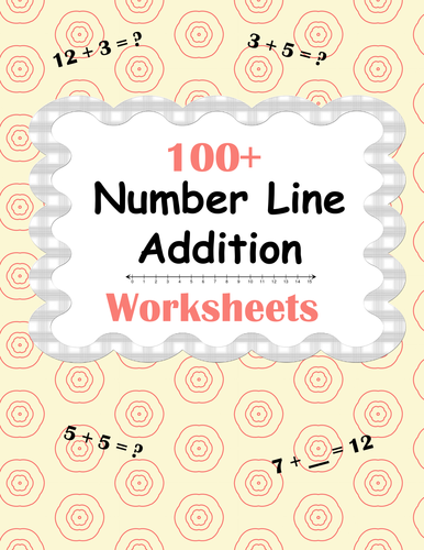 maths addition worksheet with number line year 1 by gemvictoria teaching resources tes. Black Bedroom Furniture Sets. Home Design Ideas