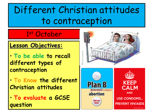Different Christian attitudes to contraception