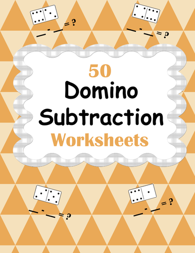 Domino Math Worksheets Bundle by bios444 - Teaching Resources - TES