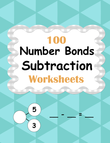 Number Bonds: Subtraction Worksheets by bios444 - Teaching Resources ...