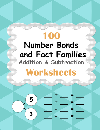 Number Bonds and Fact Families: Addition and Subtraction Facts ...
