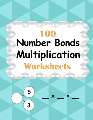 Number Bonds: Multiplication Worksheets by bios444 - Teaching ...