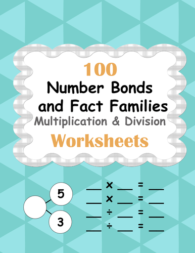 number bonds and fact families multiplication and division facts by  number bonds and fact families multiplication and division facts by  bios  teaching resources  tes