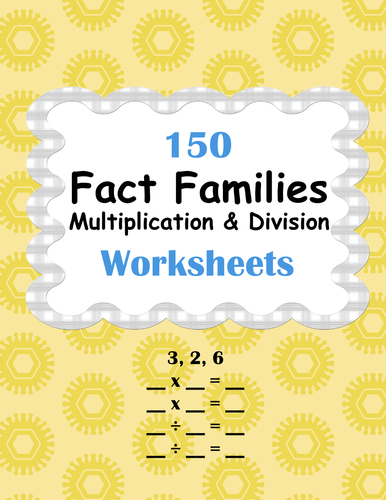 fact families  multiplication and division worksheets by bios  fact families  multiplication and division worksheets by bios   teaching resources  tes