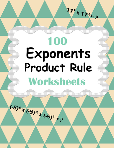 exponents worksheets bundle product power quotient rule by bios444 teaching resources tes. Black Bedroom Furniture Sets. Home Design Ideas