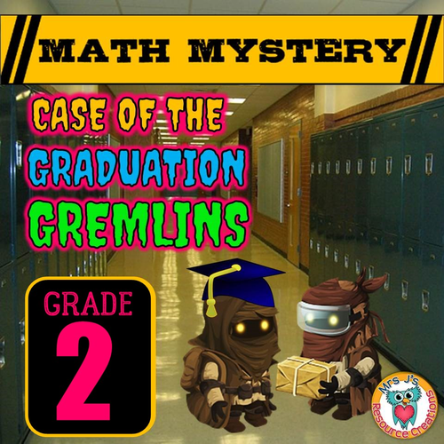 End of Year Math Mystery Activity (GRADE 2)