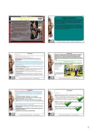 GCSE PE Revision - Cultural and Social Factors