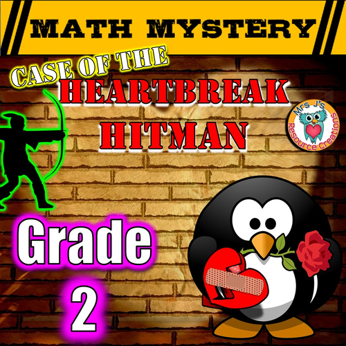 Valentine's Day Math Mystery Activity (GRADE 2)
