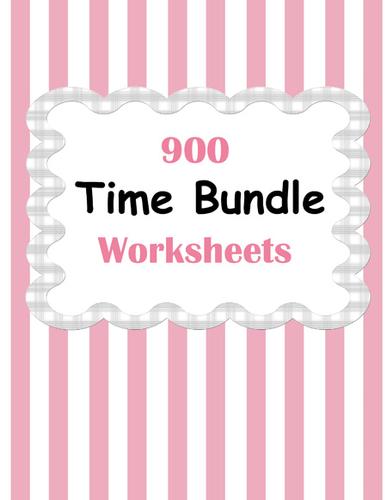 Time Worksheets Bundle