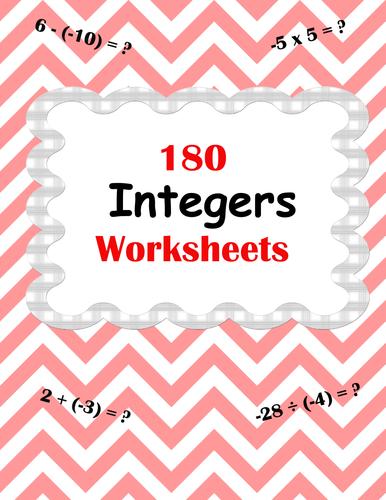 integer worksheets  addition subtraction multiplication and  integer worksheets  addition subtraction multiplication and division by  bios  teaching resources  tes