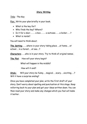 Story Writing - 'The Key'