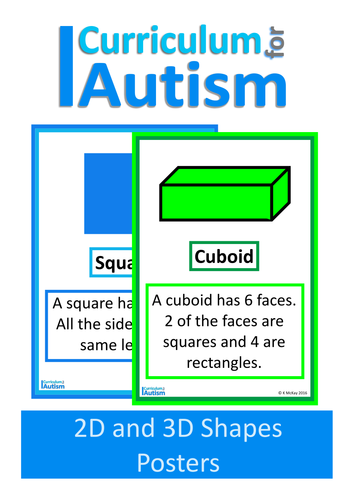 2D and 3D Shapes Classroom Posters, Autism, Special Education by ...