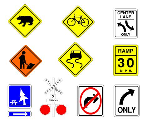 Road Signs Clip Art 2