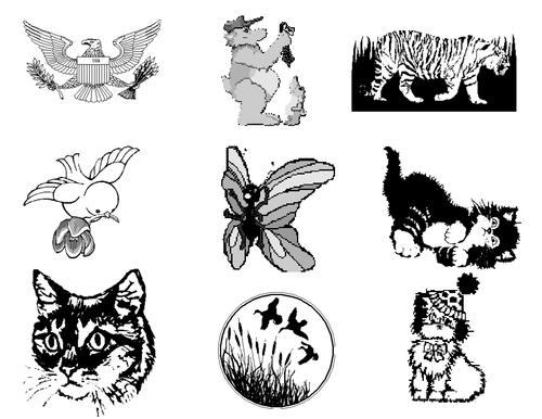 Animals Clip Art Mega Bundle 4 - Farm Animals, Wild Animals, Forest & Aquatic