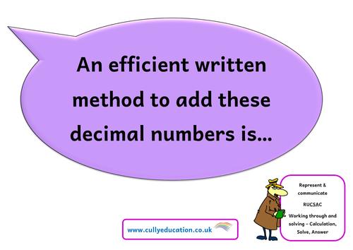 Numerical Reasoning Speaking Frames KS3/4