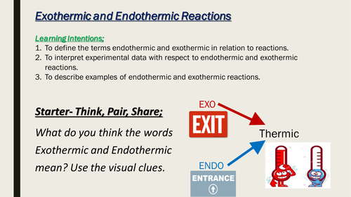 Exothermic And Endothermic Reactions By Grouchob Teaching