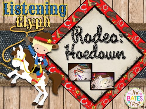 Western Music Decor - Aaron Copland Rodeo:  Hoedown Listening Activity