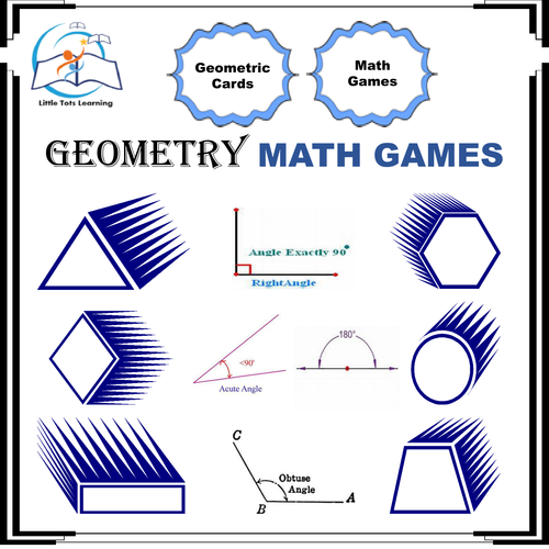 Geometry Math Games by Little_Tots_Learning | Teaching Resources