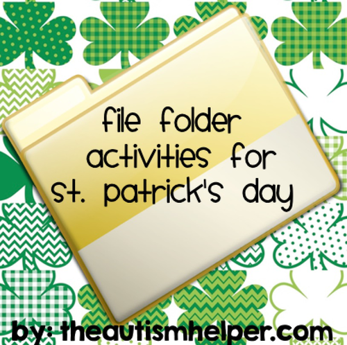 File Folder Activities For St Patricks Day By Theautismhelper