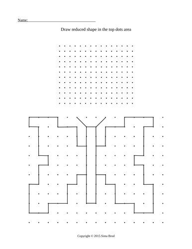 Shapes reduction activity. 12 worksheets.
