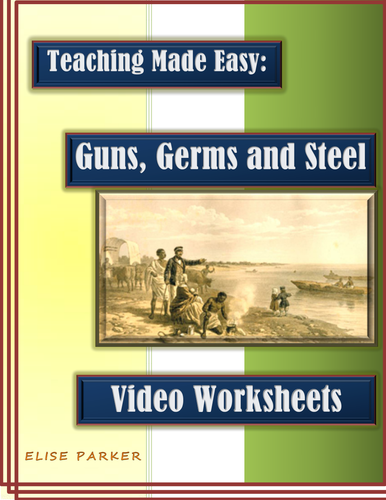 guns germs and steel video worksheets pdf printable version by mesquitequail teaching. Black Bedroom Furniture Sets. Home Design Ideas