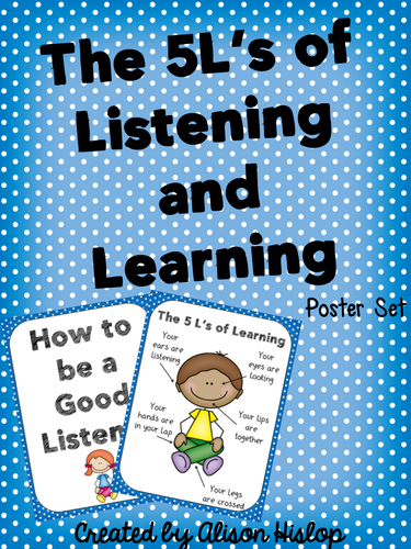 5 L's of Learning and Listening Posters