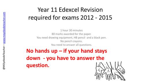 GCSE Design Technology Revision: EDXCEL General Revision