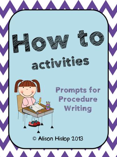 How to... Procedure Writing Activities