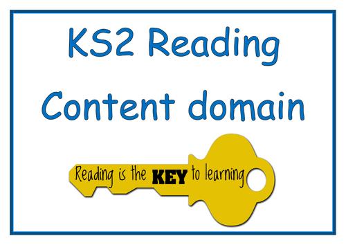 KS2 Reading Content domain display