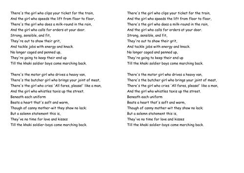 Y8 WWI Poetry