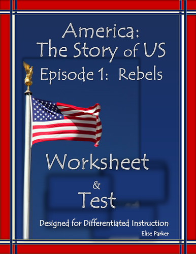 """America the Story of US Episode 1 Quiz and Worksheet: """"Rebels"""""""