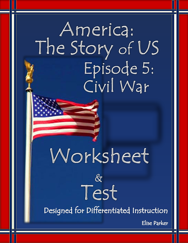 America the Story of US Episode 5 Quiz and Worksheet: Civil War