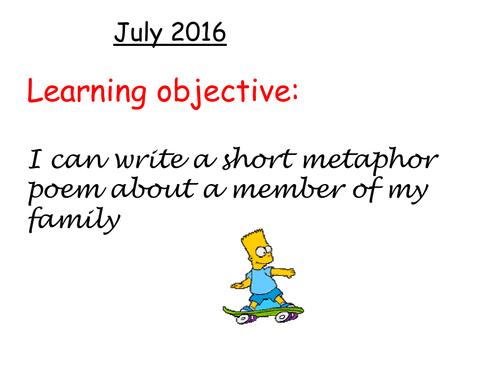 My family metaphor poem